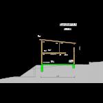 Seitenansicht Pultdach