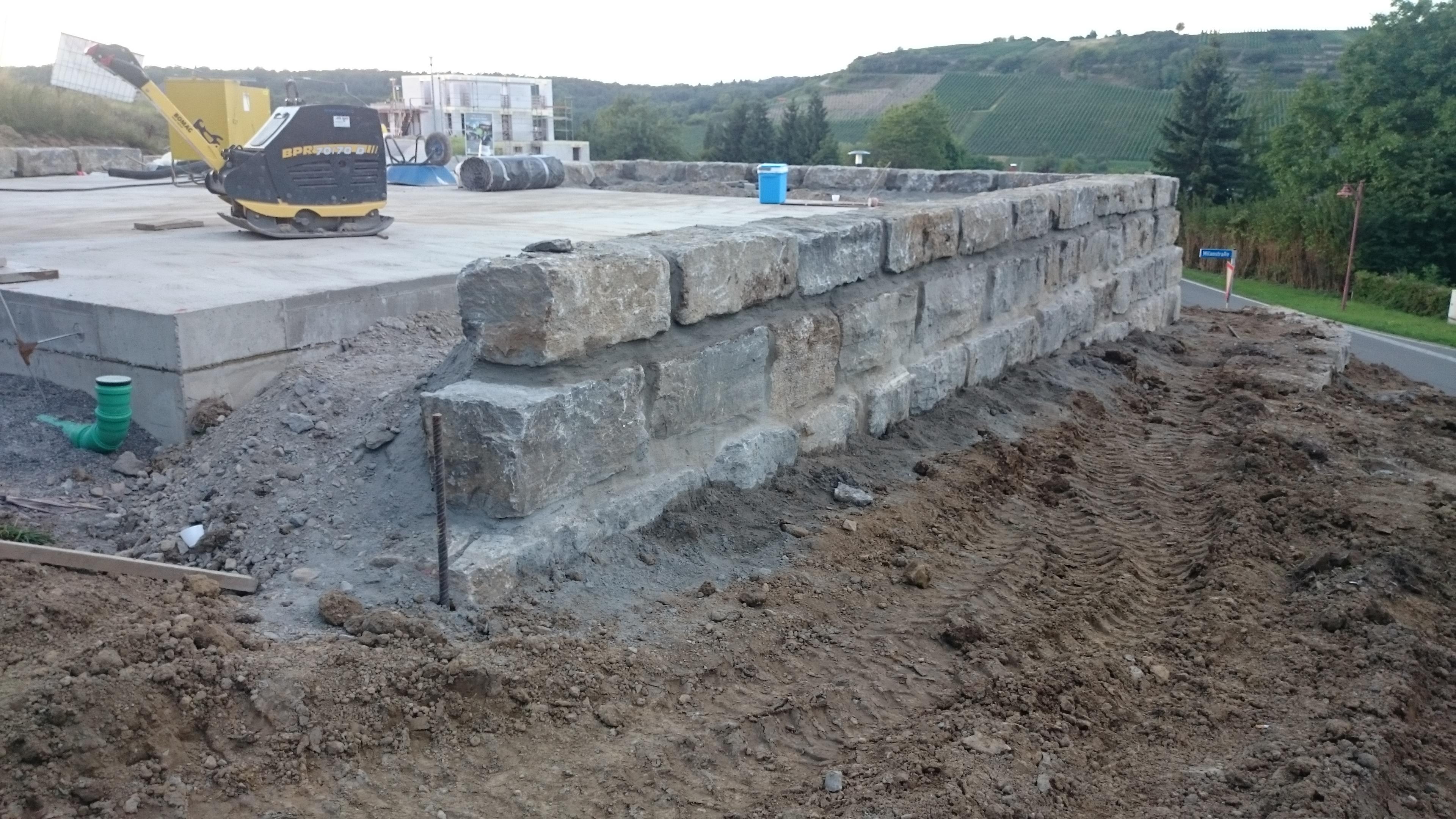 Teil der Terrassenmauer