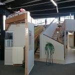 Treppen im Bemusterungszentrum von Hanse Haus