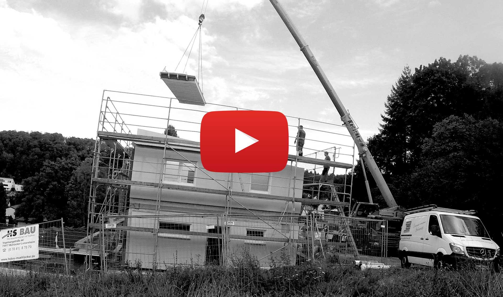 Fertighaus von Hanse Haus im Aufbau als Timelaps / Zeitraffer-Video