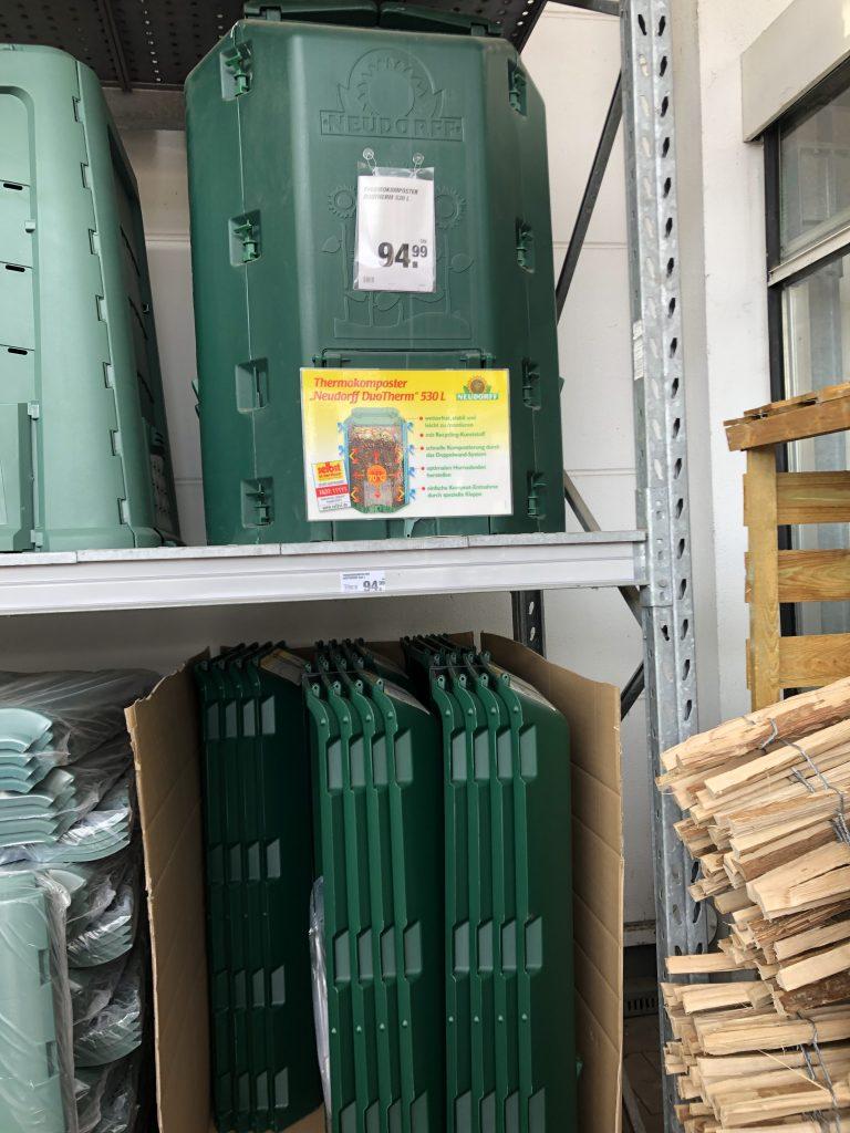 Kompost-Kauf im Baumarkt